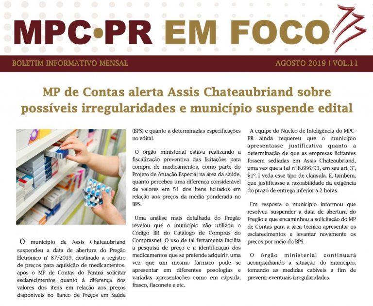 Boletim Informativo MPC-PR em Foco agosto/2019