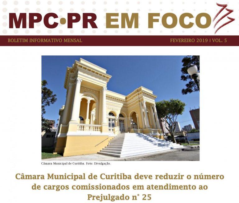 Boletim Informativo MPC-PR em Foco fevereiro/2019