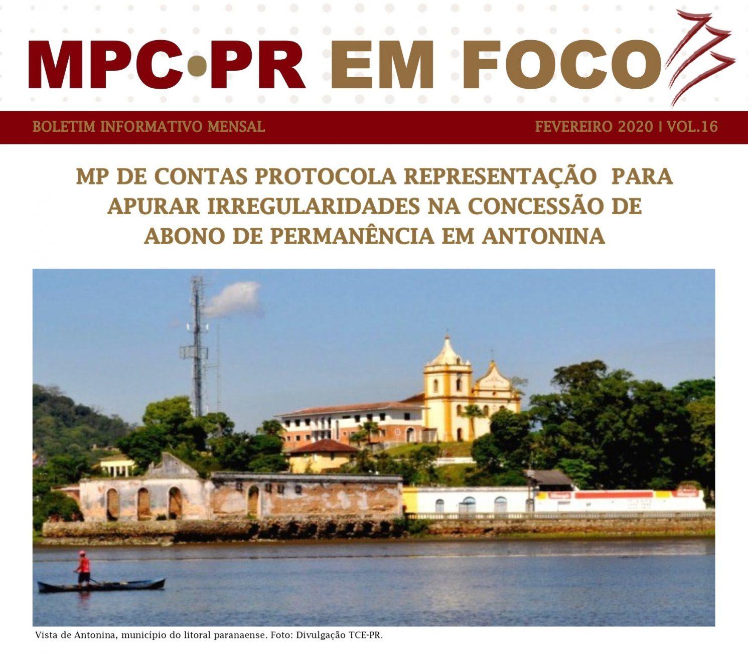 Boletim Informativo MPC-PR em Foco fevereiro/2020