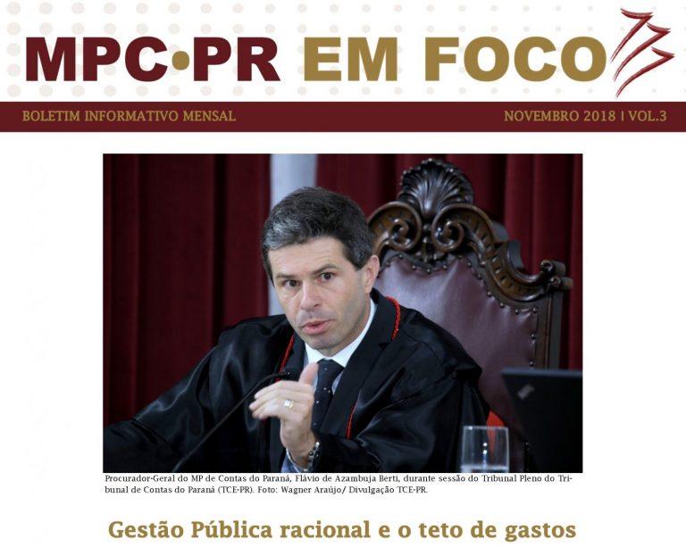 Boletim Informativo MPC-PR em Foco novembro/2018