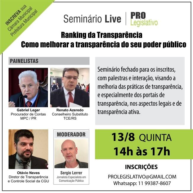 """Evento """"Como melhorar a transparência do seu poder público"""""""