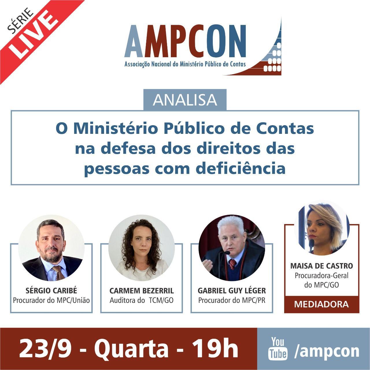 Nesta quarta-feira (23), AMPCON promove live sobre os direitos das pessoas com deficiência