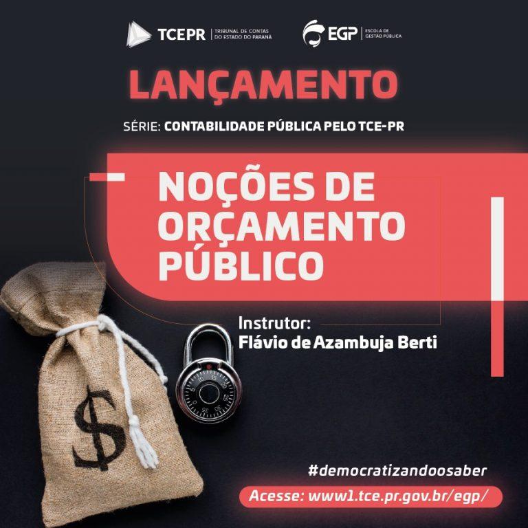 """MP de Contas participa de curso online do TCE-PR sobre """"Noções de Orçamento Público"""""""