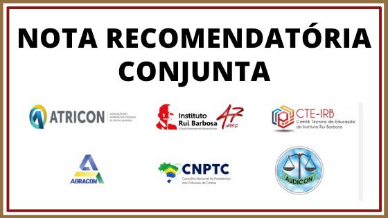 Instituições representativas dos Tribunais de Contas emitem nota conjunta acerca da fiscalização das metas do PNE