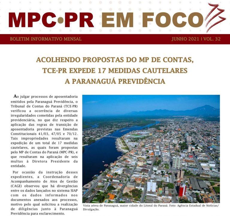 Boletim Informativo MPC-PR em Foco junho/2021