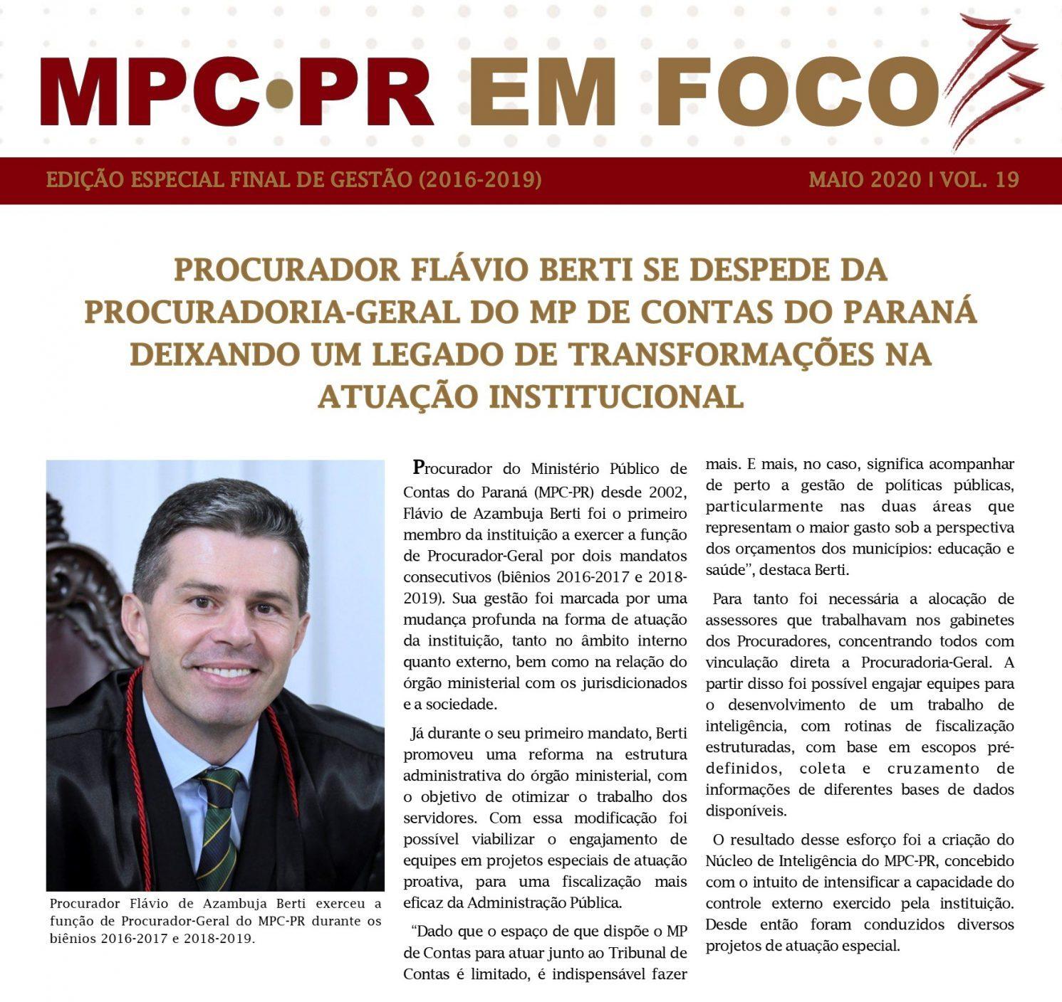 Boletim Informativo MPC-PR em Foco maio/2020