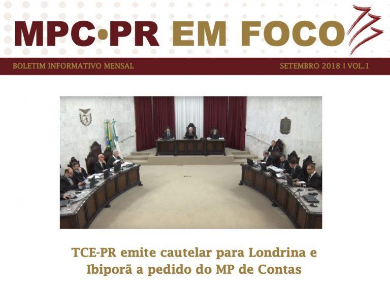 Boletim Informativo MPC-PR em Foco setembro/2018