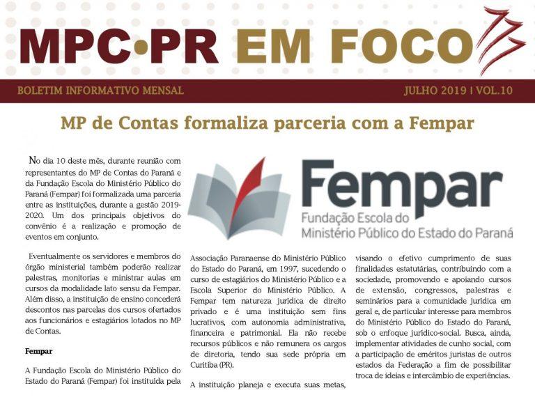 Boletim Informativo MPC-PR em Foco julho/2019