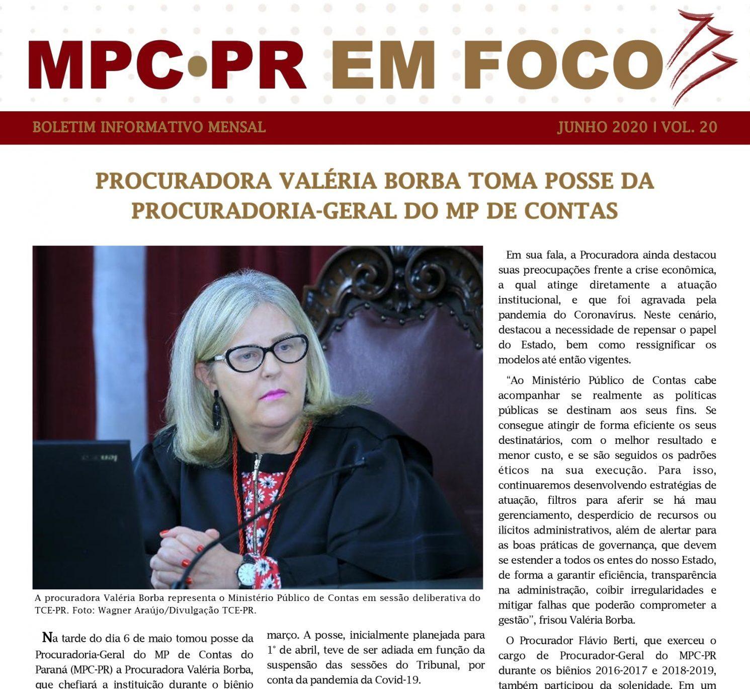 Boletim Informativo MPC-PR em Foco junho/2020