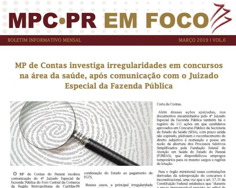 Boletim Informativo MPC-PR em Foco março/2019