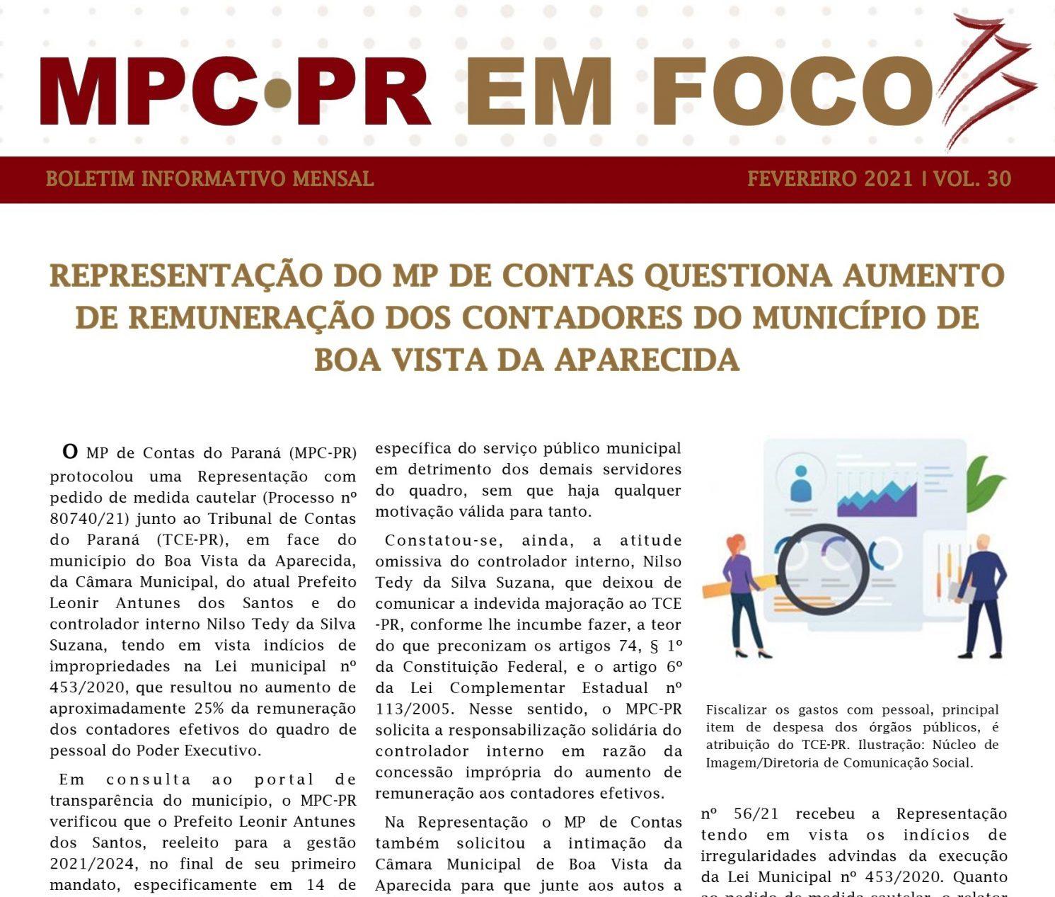 Boletim Informativo MPC-PR em Foco abril/2021