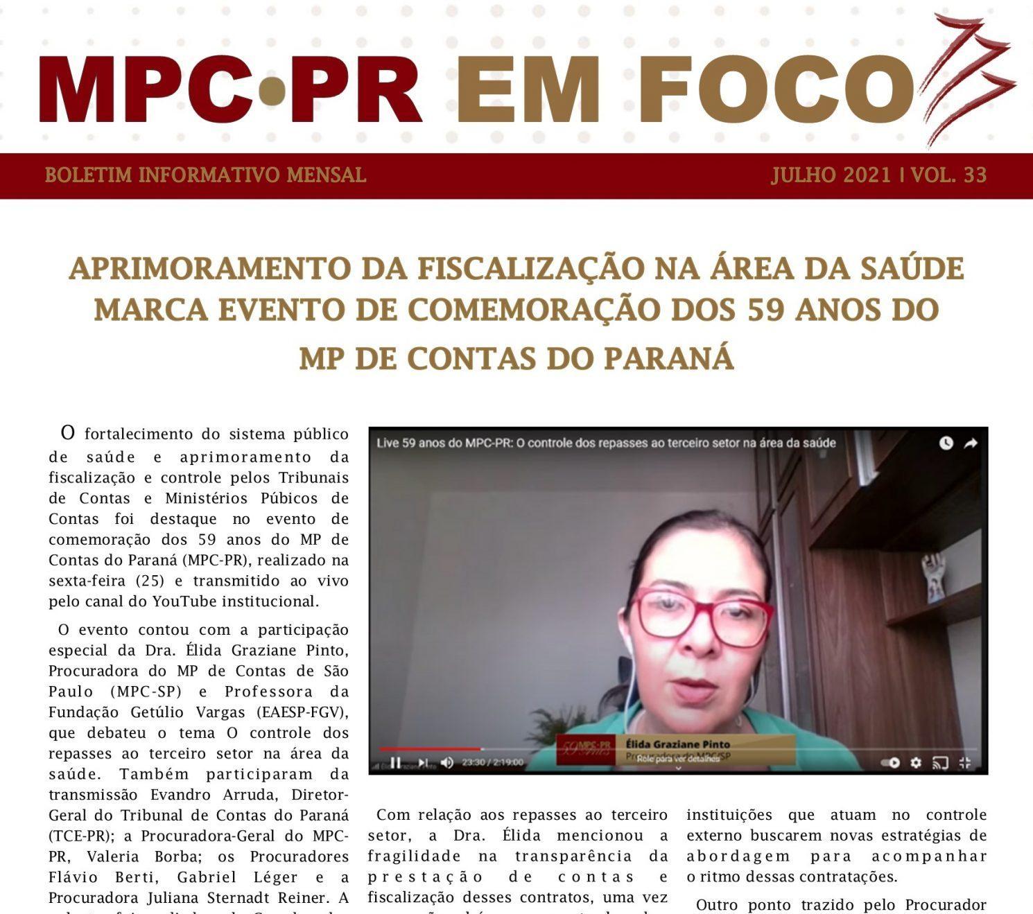 Boletim Informativo MPC-PR em Foco julho/2021